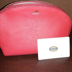 Fossil Cosmetic Leather Bag